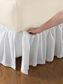 Cotton Gathered Detachable Bedskirt 18'' Drop
