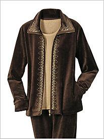 Gold Mine Velour Jacket by D&D Lifestyle?