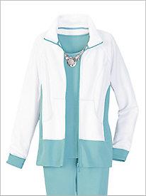 Fabulous Flatback Rib Knit Jacket by D & D Lifestyle 8728767