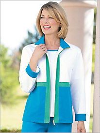 Palm Springs Ponte Knit Jacket by D & D Lifestyle