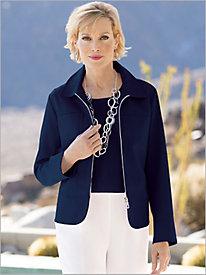 Peplum Herringbone Jacket