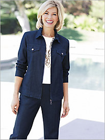 Pintuck Denim Jacket Separates