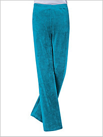 Corded Velour Pull-on Pants by D&D Lifestyle?