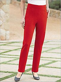 Slimtacular® Ponte Knit Slim-Leg Pull-on Pants