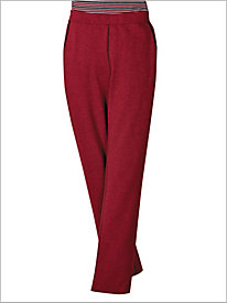 Red Mix Knit Pull-on Pants by D & D Lifestyle 8943840