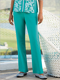 Pull-on French Terry Knit Pants by D & D Lifestyle 8987467