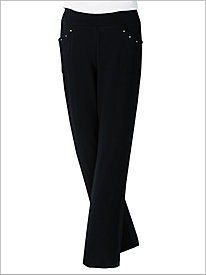 French Terry Knit Pull-on Pants by D & D Lifestyle 9041493