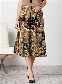 Regal Paisley Skirt by...