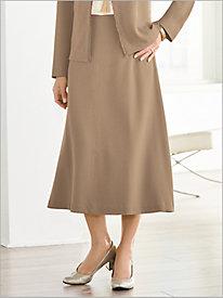 Look-Of-Linen Skirt @...