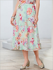Roman Holiday Botanical Skirt By Alfred Dunner