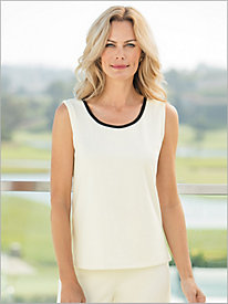 Coordinating Ponte Knit Tank by Brownstone Studio®