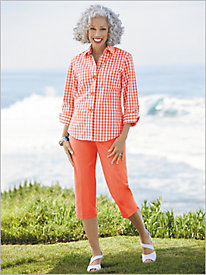 Gingham Shirt by Foxcroft & Slimtacular® Pants