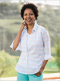 Swiss Dot Shirt by Foxcroft