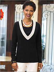 Opposites Attract Sweater by Brownstone Studio; 9028636