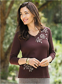 Check Floral Sweater by Alfred Dunner