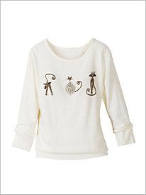 Pearl Kitty Sweater @...