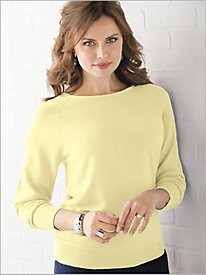 Soft Spun® Jewel Neck Sweater
