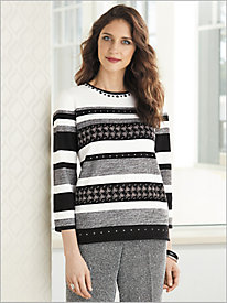 Biadere Sweater by Alfred Dunner