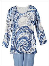 Paisley Sweater by Alfred Dunner