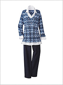 Zig Zag 2 fer Sweater by Alfred Dunner & Slimtacular® Denim Pants
