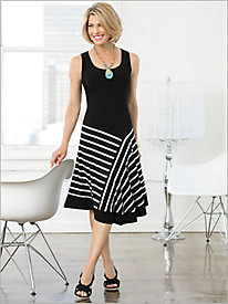 Solid/Stripe 1-Piece Dress