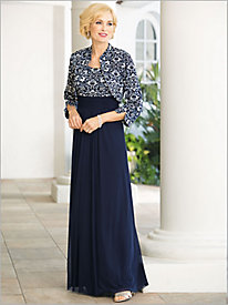 Glamorous Gown With Ruched Waist