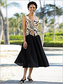Animal Print Dress @...