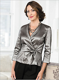 Shine Surplice Blouse by Alex Evenings