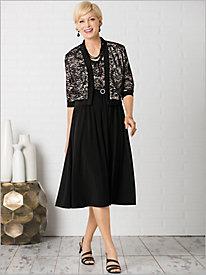 Pretty Lace & Knit Jacket Dress