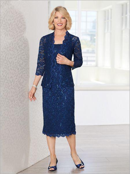 New Venetian Lace Jacket Dress by Alex Evenings | Drapers & Damons