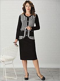 Houndstooth Print Skirt Set by Brownstone Studio®