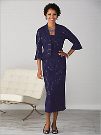 Lace Long Jacket Dress