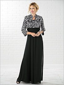 Classic Chic Gown with Ruched Waist