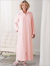 Zip Front Velour Robe
