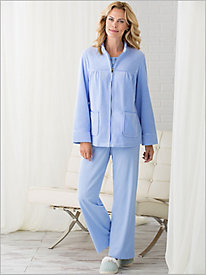 Swing Velour Bed Jacket & Lacey Sleep Set