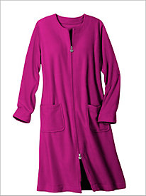 Fleece Knee Length Robe...
