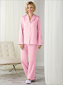 Brushed Back Satin Pajama Set