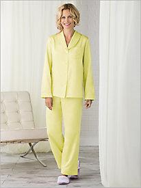 Brushed Back Satin Pajama Set