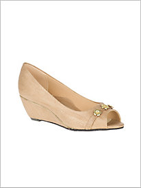 Taupe Adley Wedge @...