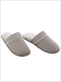 Textured Knit Slippers