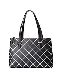 Positive Negative Quilted Handbag