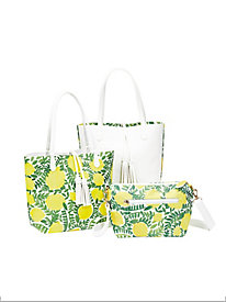 Reversible Lemon Tote