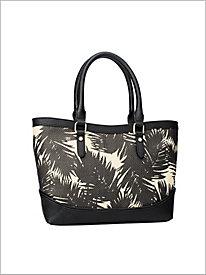 Palm Print Tote @...