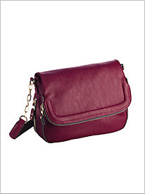 Zip Flap Handbag