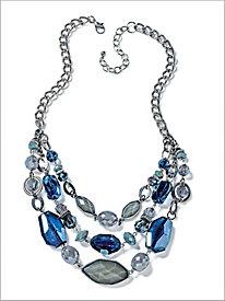 Blue Print Necklace