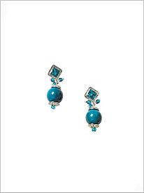 Singing The Blues Pendant Earrings