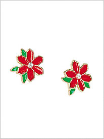 Sparkle Poinsettia Earrings