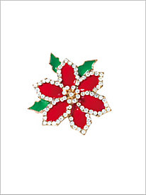 Sparkle Poinsettia Pin...