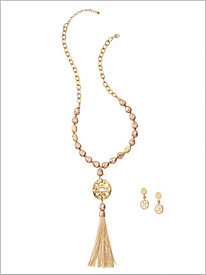 Golden Goddess Tassel Jewelry
