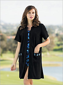 Zip-Front Shell Cover-Up
